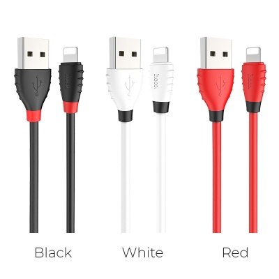 Кабель USB HOCO X27 Excellent, USB - Lightning, 2.4А, 1.2 м, белый